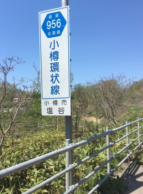 小樽塩谷の道道956号線、小樽環状線沿い。