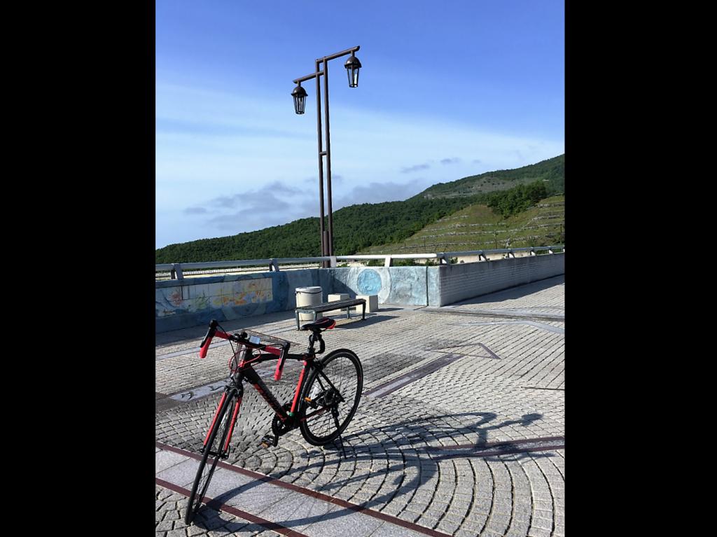 朝里ダム ロードバイク
