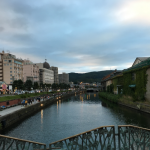 小樽運河の黄昏時を撮ってみた。