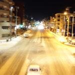 冬の小樽稲穂十字街19時過ぎ撮影。
