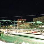 小樽駅ホームを裏から撮影