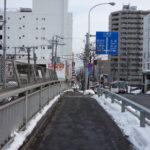 いつもの風景稲穂十字街上の跨線橋